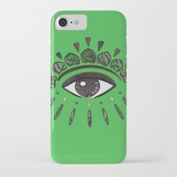 kenzo iPhone & iPod Cases featuring Kenzo eye green by cvrcak