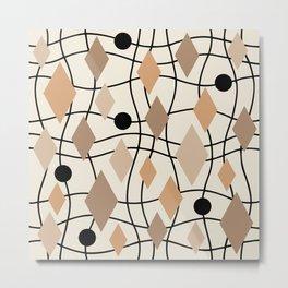 Colorful Mid Century Modern Geometric Abstract 131 Metal Print