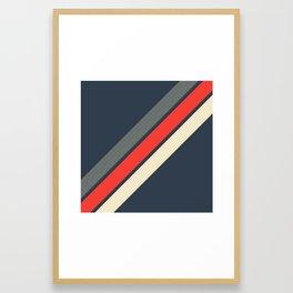 3 Retro Stripes #4 Framed Art Print
