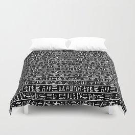 Egyptian Hieroglyphics // Black Duvet Cover