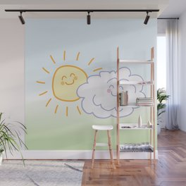 Floof Cloud and Sunny Wall Mural