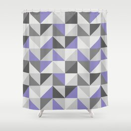 Purple & gray modern triangles pattern Shower Curtain