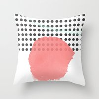 polka dot Throw Pillows featuring polka dot by Ceren Aksu Dikenci