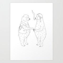 Cigarettes for bears Art Print