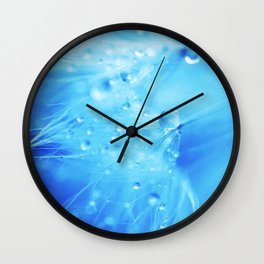 A Poem From Rain III Wall Clock
