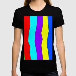 Abstract irregular coloured lines T-shirt