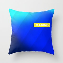 IMAGINE gradient no1 Throw Pillow