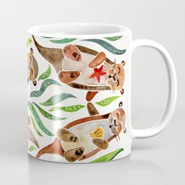 Five Otters – Green Seaweed Coffee Mug