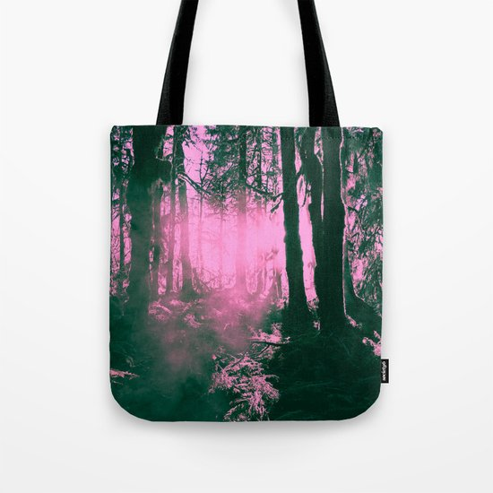Forest Sunset on Trees Hoh Rainforest - Travel Sunset Nature Tree sun green hiking adventure 3 Tote Bag