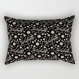 MERRY CHRISTMAS IN BLACK Rectangular Pillow