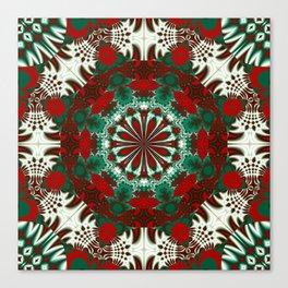 Kaleidoscope pattern design in december colors Canvas Print
