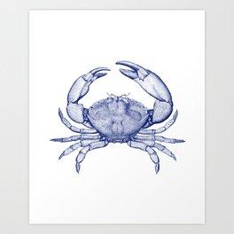 Stone Crab Navy Blue by Zouzounio Art Art Print
