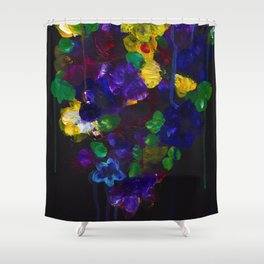 Drip Flowers - Botanical - Floral Shower Curtain