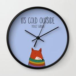 Cold fox Wall Clock