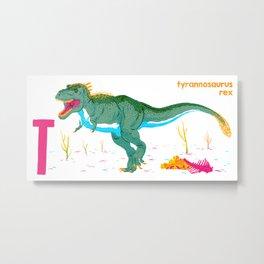 Alphasaurus Rex Metal Print