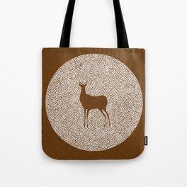 Deer Mandala 2 color Tote Bag