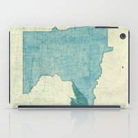 minnesota iPad Cases featuring Minnesota State Map Blue Vintage by City Art Posters