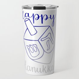 Happy Hanukkah Dreidel Travel Mug