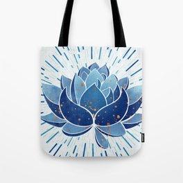 Indigo Lotus Blossom Tote Bag