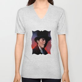 Damon in a Tophat Unisex V-Neck