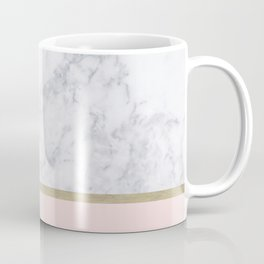 Marble Gold Blush Pink Pattern Coffee Mug
