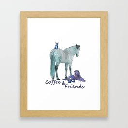 Coffee and Friends Framed Art Print