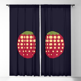 strawberry || russian black Blackout Curtain