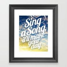 Sing A Song! Framed Art Print