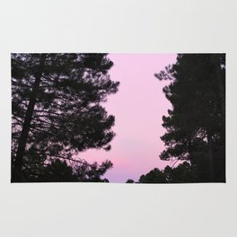 Pink sunrise. Into the woods. Rug