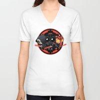 dark side V-neck T-shirts featuring Dark Side by Dooomcat