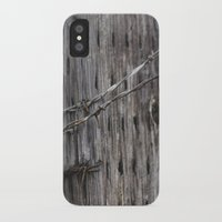 the wire iPhone & iPod Cases featuring wire  by Stephanie Dana