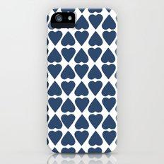 Diamond Hearts Repeat Navy iPhone (5, 5s) Slim Case