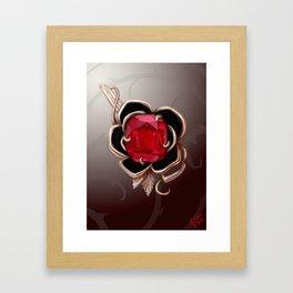 The Knightly rose brooch Framed Art Print