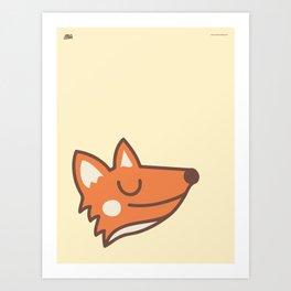 Happy fox Art Print