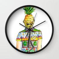 Mr. Pineapple Wall Clock