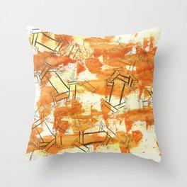 October Sober Throw Pillow