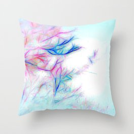 Tree Branch Abstract In Color Throw Pillow