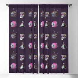 Illustration 90s Retro Blackout Curtain