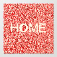 wallet Canvas Prints featuring Home:家 by aPersonalidea