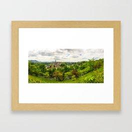 Berne from above, Switzerland Framed Art Print