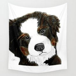 Bernese Mountain Dog Love Wall Tapestry