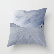 Whittier's backyard Throw Pillow
