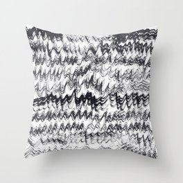 ink explorations (076) - abstract black india ink painting Throw Pillow