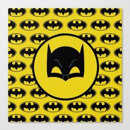 Super Hero Bat Shield Canvas Print