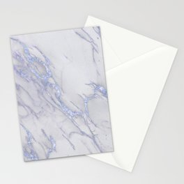 Marble Love Sapphire Metallic Stationery Cards