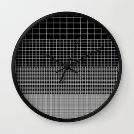 Grids Inverted Print Wall Clock