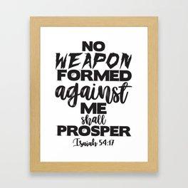 Isaiah 54:17 Framed Art Print
