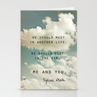 sylvia plath Stationery Cards featuring Sylvia: Air by Leah Flores