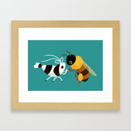 Bee & bee shrimp Framed Art Print