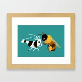 Bee & bee shrimp Framed Art Print